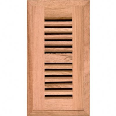 2&#034; x 10&#034; Brazilian Cherry Grill Flush w/Frame